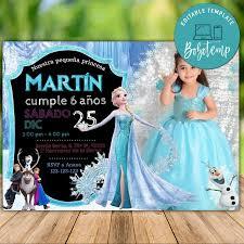 Elsa Congelada Editable Con Foto Invitan A Cumpleanos De Hielo De