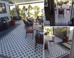 learn how to stencil a pretty patio