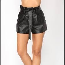 fashion nova shorts faux leather high