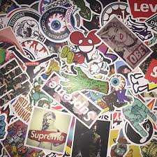 Amazon Com Not Random 100 Piece Skateboard Stickers Vintage Vinyl Laptop Luggage Decals Dope Sticker Mix Lot Kitchen Dining