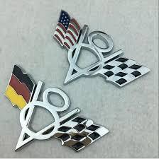 Custom Metal National Flags V8 Car Emblem Badge Sticker Decal Buy Us V8 Flag 3d Racing Car Fender Trunk Chrome Emblem Metal V8 American Flag Car Metal Emblem Badge Sticker Decal For