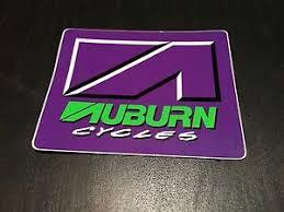 Nos Vintage Auburn Cycles Purple Bmx Sticker Decal Ebay