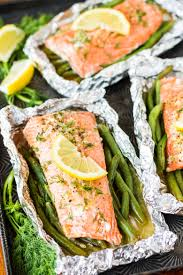 easy grilled salmon in foil packets