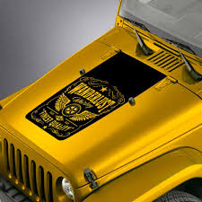 Amazon Com Skunkmonkey Hood Decal Fits Jeep Wrangler Tj Yj Jk Wanderlust Whiskey Label 1 Blackout Sticker Matte Black Automotive