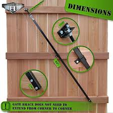 Mua True Latch Gate Brace Wood Privacy Fence Anti Sag Gate Kit 1 Piece Construction 64 Long Gate Hardware Kit For Outdoor Yard Wooden Fence Gates 1 Usa
