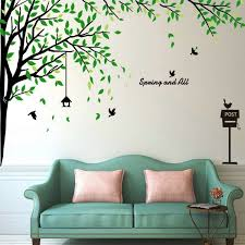 Large Corner Tree Wall Decals Wallsymbol Com