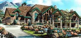 rustic luxury house plan craftsman