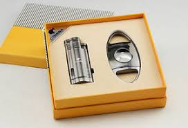 cohiba cigar lighter cutter gift set 3