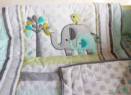 elephants 7 piece baby bedding crib set