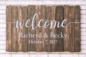 Welcome Wedding Decal Personalized Name And Date Simple Wedding Sign Vinyl 4 Decor