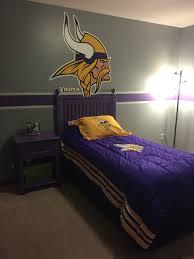 Minnesota Vikings Bedroom Football Bedroom Remodel Bedroom Room Ideas Bedroom