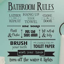 Gracie Oaks Bathroom Rules Wall Quotes Decal Reviews Wayfair