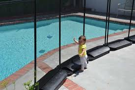 No Holes In Deck Diy Pool Fence Temporary Pool Fencing Pool Safety Fence