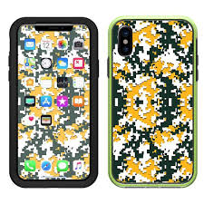 Skin Decal For Lifeproof Slam Iphone X Case Digi Camo Team Colors Camouflage Green Yellow Itsaskin Com