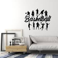 Vinyl Wall Decal Basketball Players Ball Game Sports Fan Stickers Mura Wallstickers4you
