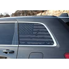 Amazon Com Skull Daddy Graphics Usa Window Flags To Fit Jeep Grand Cherokee Wk 2005 2010 Both Sides Automotive