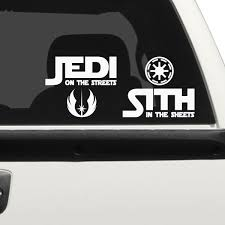 Jedi On The Streets Car Decal The Decal Guru