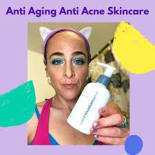 anti aging anti acne skincare routine