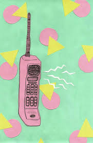 cute retro cell phone wallpaper on we