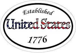 United States Established 1776 Vinyl Window Decal Patriotic Bumper Sticker American Flag Car Decal Amazon In Sports Fitness Outdoors