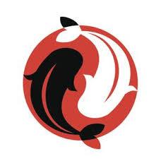 Ying And Yang Koi Fish In Red Sun Vinyl Decal Sticker Shinobi Stickers