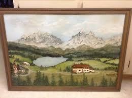 Vintage Impressionist Landscape Painting~Berchtesgarten By Myrtle ...