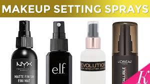 setting spray or makeup fixer
