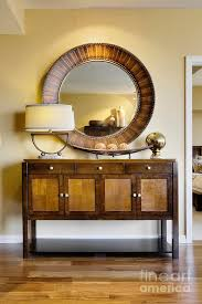 living room cabinet with mirror
