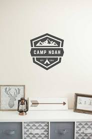 Nursery Wall Decal Woodland Camping Wall Decal Mountain Wall Decal Customized Decal Mountain Wall Decal Nursery Wall Decals Wall Decals
