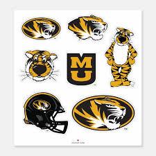 Mu Mizzou Logos Sticker Zazzle Com
