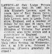 Ada Lawson obituary - Newspapers.com