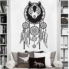 Amazon Com Dream Catcher Wolf Dreamcatcher Wall Decal Art Decor Sticker Vinyl Decoration Kitchen Dining