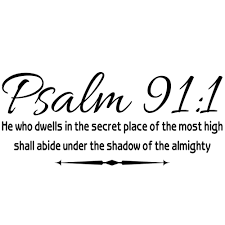 Shop Psalm 91 1 He Who Dwells In The Secret Place Scripture Wall Vinyl Overstock 17668892