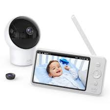 Amazon Com Video Baby Monitor Eufy Security Video Baby Monitor With Camera And Audio 720p Hd Resolution Night Vision 5 Display 110 Wide Angle Lens Included Lullaby Player Ideal For New Moms Baby