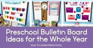 bulletin board ideas for the pre