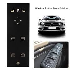 Auto Car Window Button Decal Sticker Matte Black Vinyl Black Window Switch Stickers For Mercedes Benz W204 C250 C300 C350 Car Stickers Aliexpress
