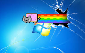 nyan cat broken desktop wallpaper