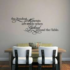 The Fondest Memories Wall Decal Dining Room Kitchen Family Quotes Decor Ebay