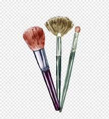 three makeup brushes cosmetics graphic