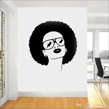 African American Woman Girl Lady Wall Sticker With An Afro Hair Salon Style Vinyl Removable Wall Decals Bedroom Home Decor Chandelier Wall Decal Cheap Decals For Walls From Joystickers 14 29 Dhgate Com