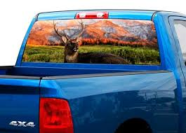 Product Deer Mountains Nature Rear Window Decal Sticker Pickup Truck Suv Car