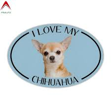 Aliauto Lovely Dog Car Sticker I Love My Chihuahua Automobiles Motorcycles Accessories Bumper Waterproof Vinyl Decal 13cm 9cm Car Stickers Aliexpress