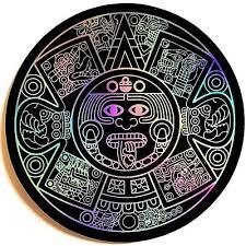 Aztec Calendar Mexico 3 5 Sticker Decal Car Window 3d Reflective Tablet Bumper Ebay