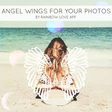add angel wings and halos to your photos rainbow love app