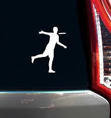 Disc Golf Player Male Car Window Decal