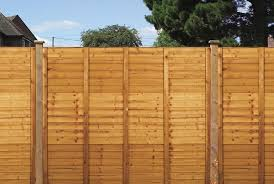 Shiplap Fence Panel Golden Brown 1 8m X 1 8m Kellys Homevalue