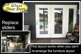 replace sliding glass door with french