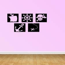Pirate Squares Nursery Decor Toddler Decor Home Decor Wall Decals Vinyl Decals Stickers Pc265 Walmart Com Walmart Com