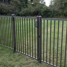 Freedom Heavy Duty Easton 4 Ft H X 6 Ft W Bronze Aluminum Flat Top Decorative In The Metal Fence Panels Department At Lowes Com
