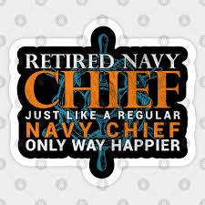 retired navy chief navy sticker